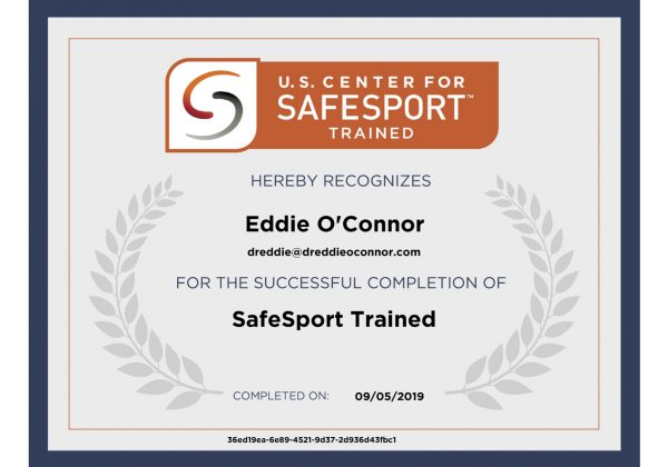 SafeSport Trained Certificate